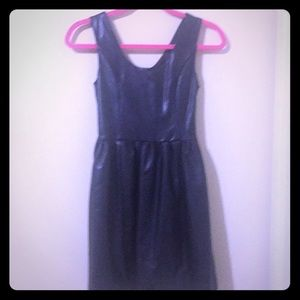 Black faux leather dress!